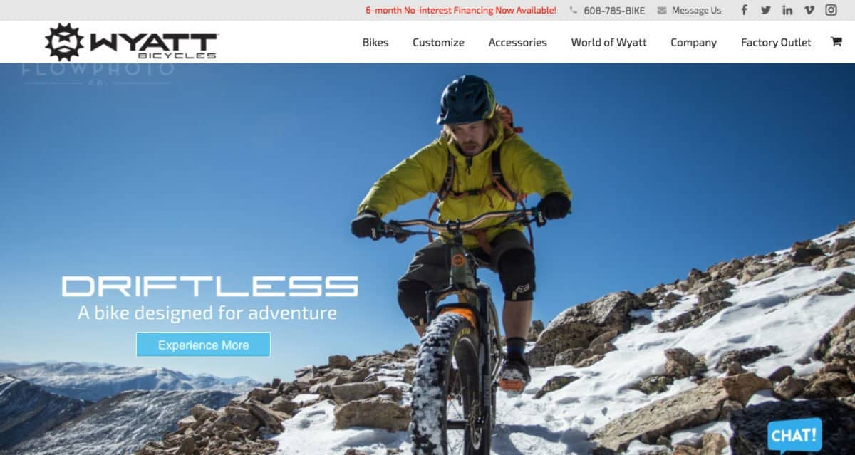 Wyatt Bicycles Website