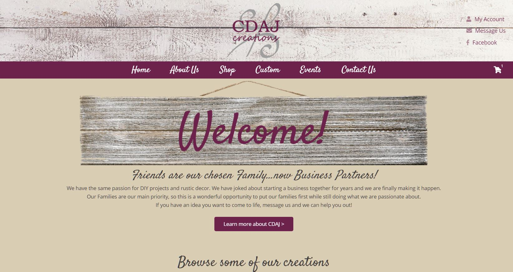 CDAJ Creations Website