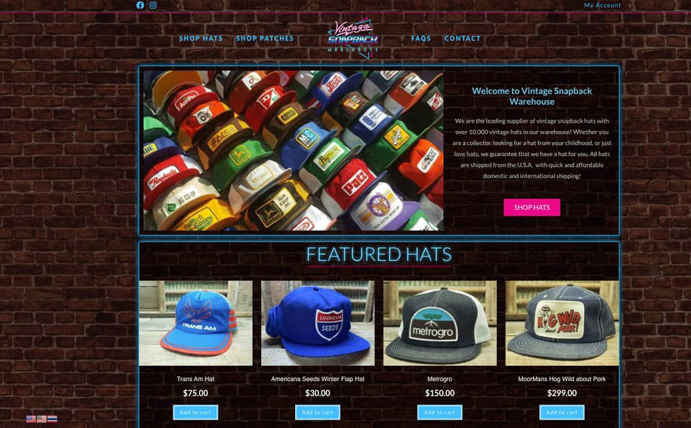 Vintage Snapback Warehouse